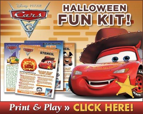 cars 3 halloween actvities