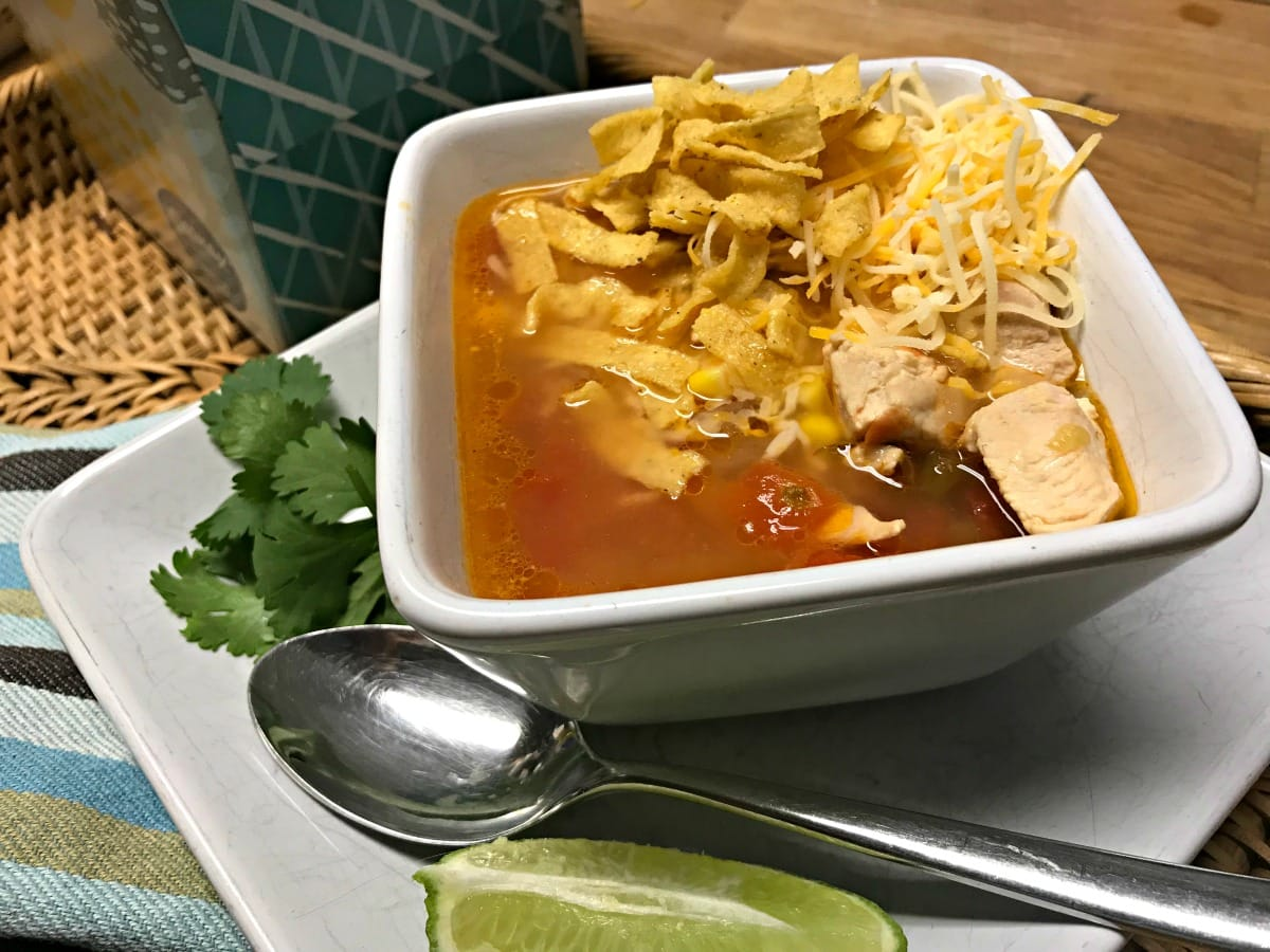 homemade chicken tortilla soup