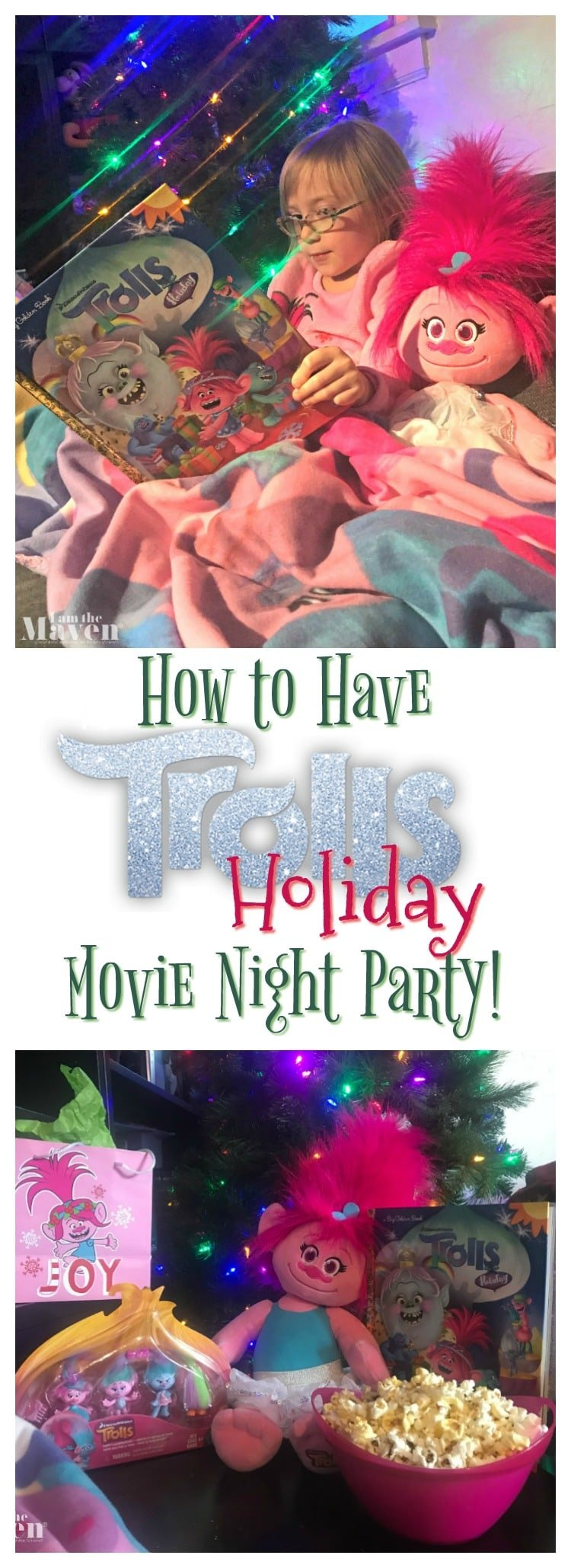 How to have a Trolls Holiday movie night party!