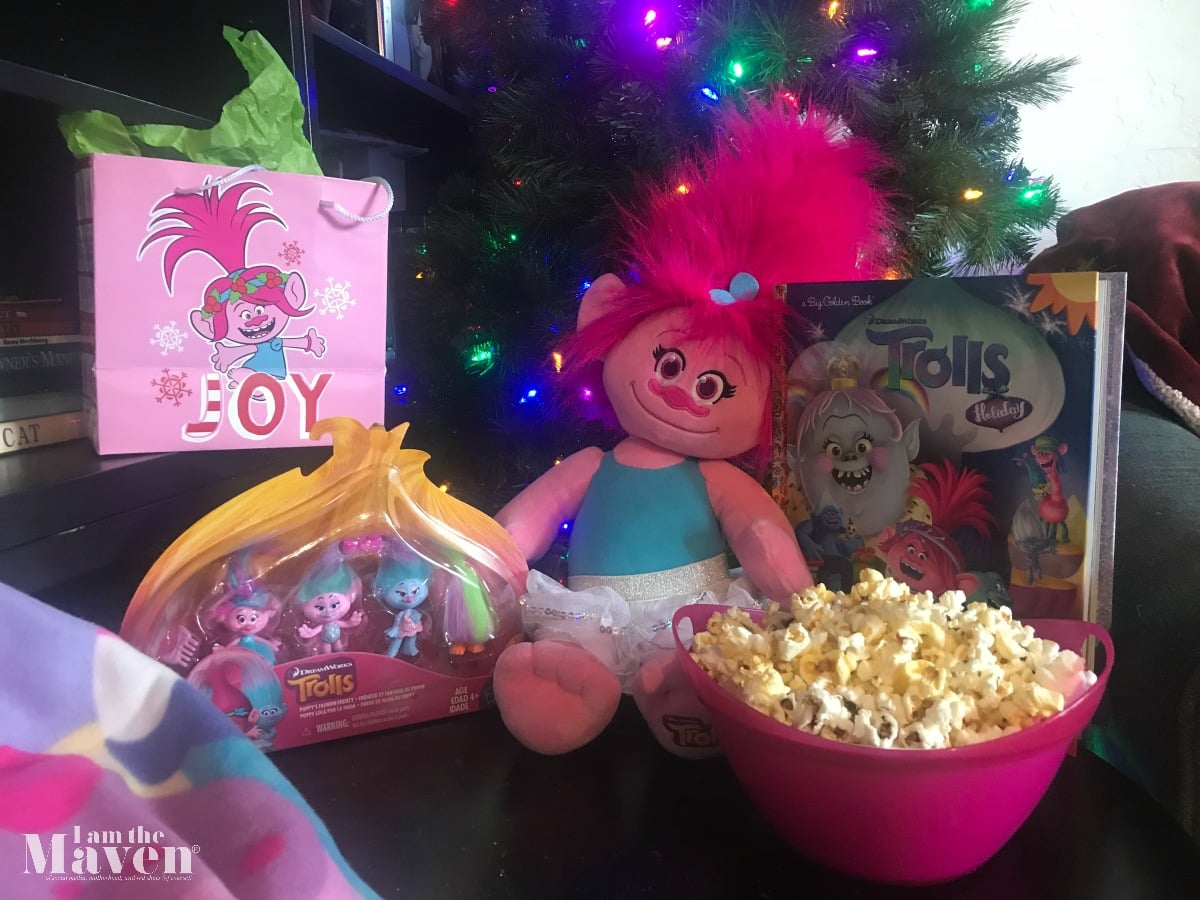 Trolls Holiday movie night party