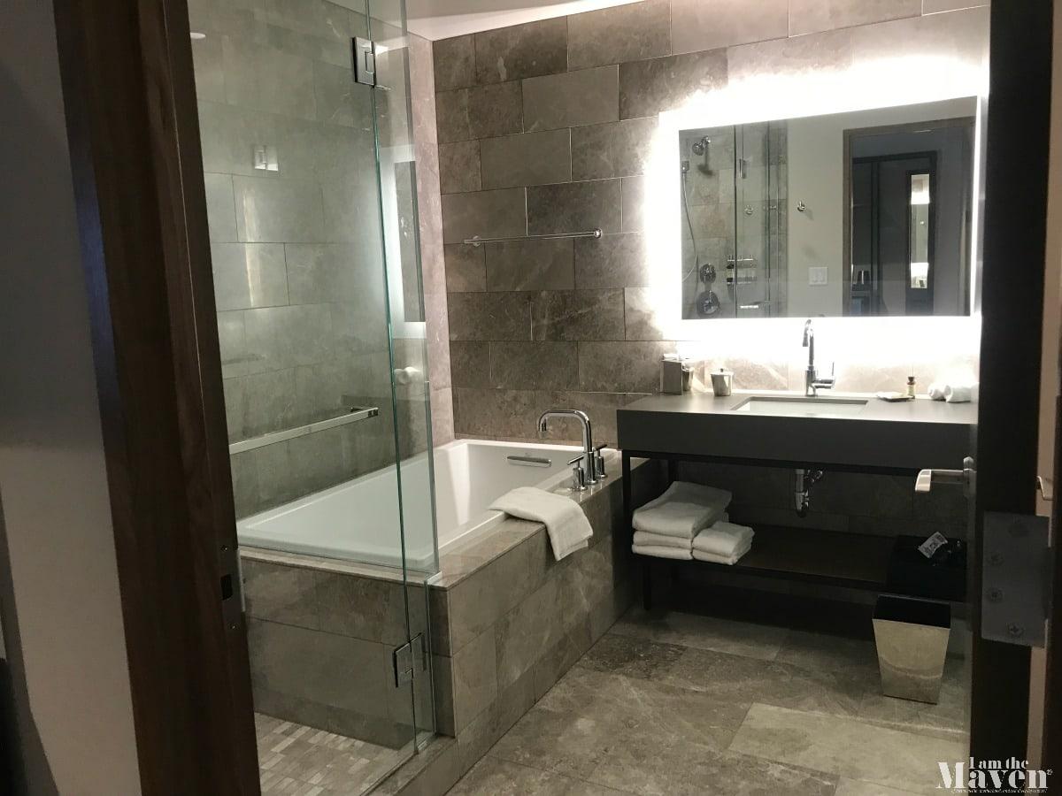 bathroom at hyatt regency