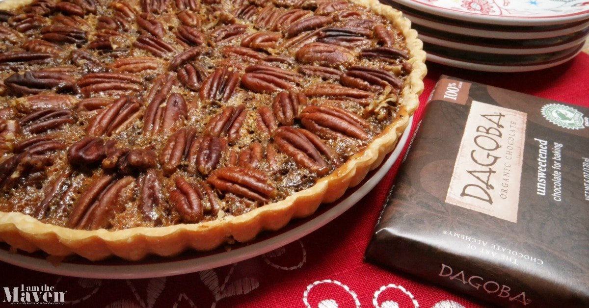 You'll love this chocolate pecan tart, it's chocolate pecan pie but easier!