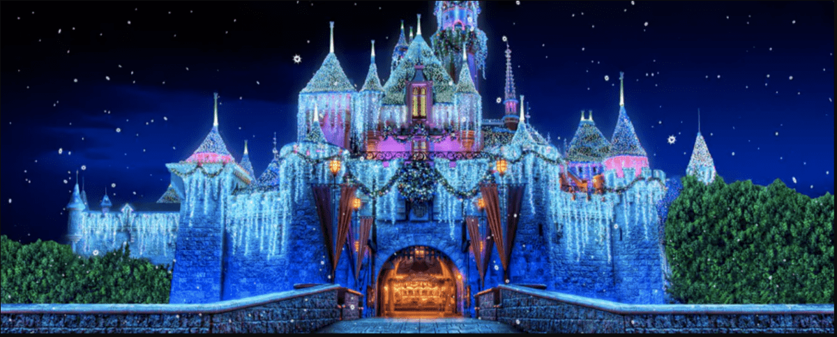 Sleeping Beauty's Castle Christmas