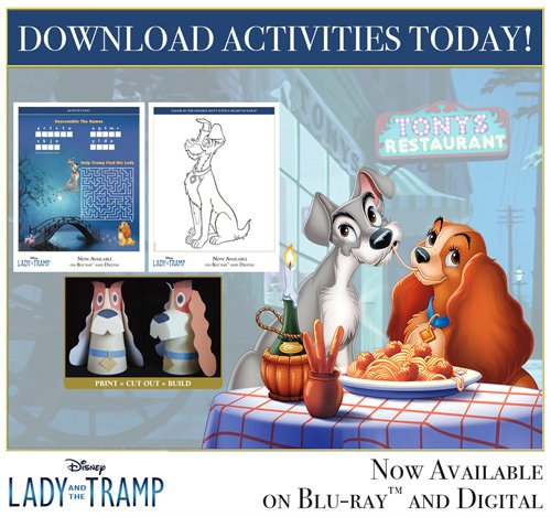 Lady And The Tramp Coloring Book Kids Fun Com: Free Lady And The Tramp Activities