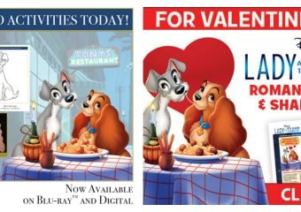 free lady and the tramp printables