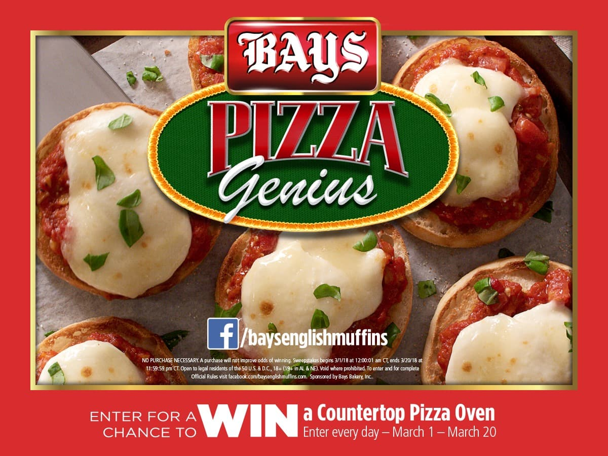 bays pizza genius sweepstakes