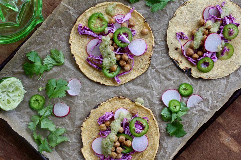 Cumin Chickpea Tacos