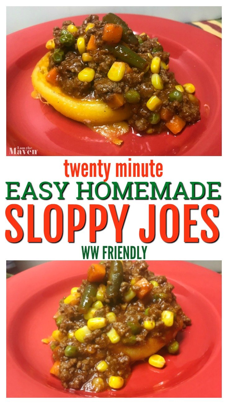 EASY HOMEMADE SLOPPY JOES RECIPE
