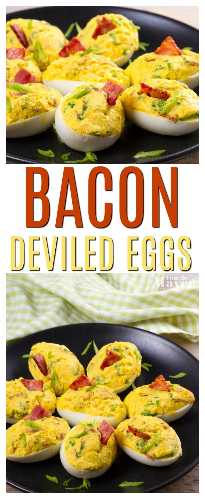 Bacon on deviled eggs? Um, yes please. Sure, a deviled eggs appetizer might be a little retro, but we can all agree, they are the perfect party snack. There are dozens of ways to top your deviled eggs, but we can all agree that deviled eggs with bacon are pretty much the end all be all.