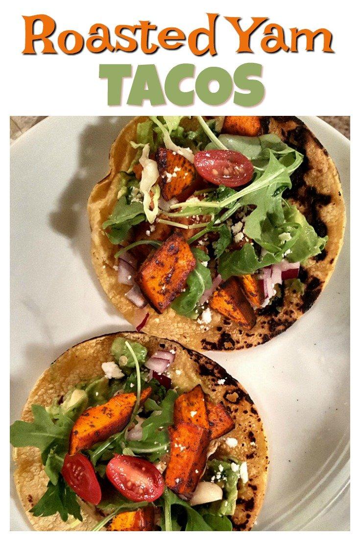 roasted yam tacos