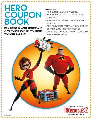 Incredibles Hero Coupon Book