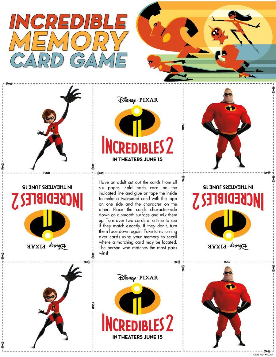 Incredibles Memory Card Game