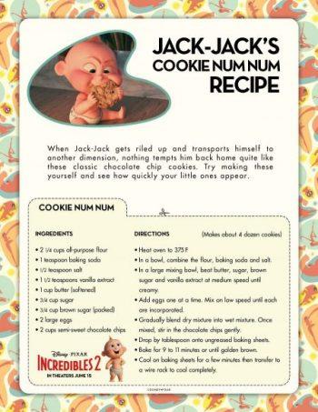Incredibles Jack Jack Cookie Recipe