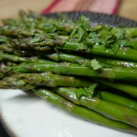 Sous Vide Asparagus with Mint