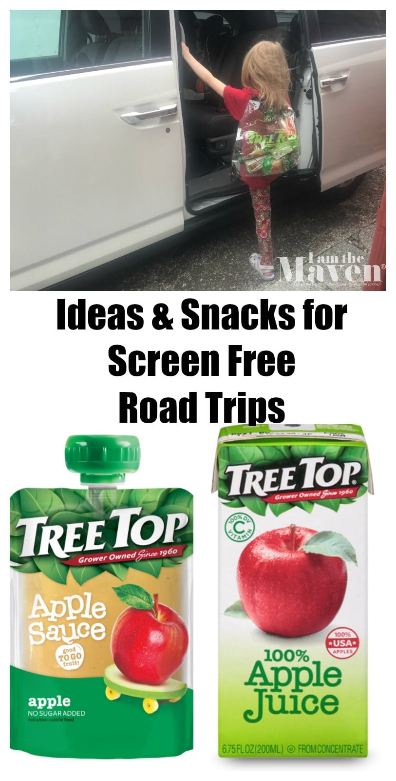 ideas and snacks for screen free road trips