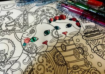 cat adult coloring pages