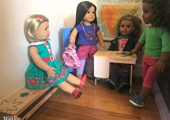 american girl dolls at school