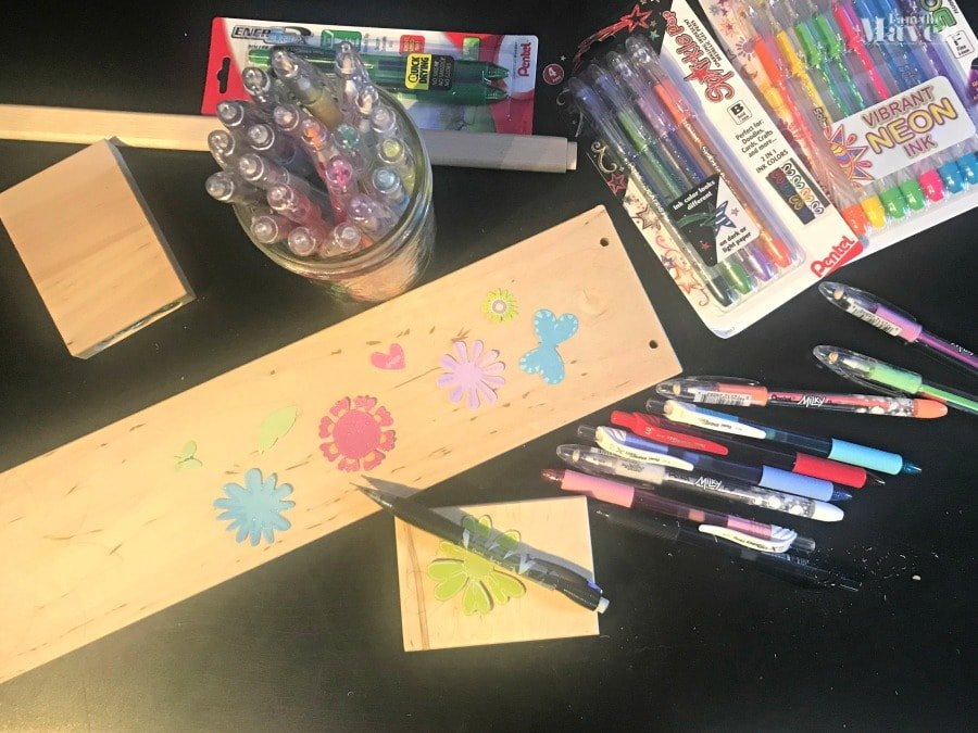 supplies needed to make decorated bench for dolls