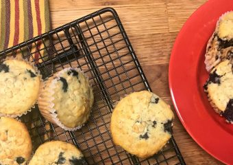 homemade oatmeal blueberry muffins