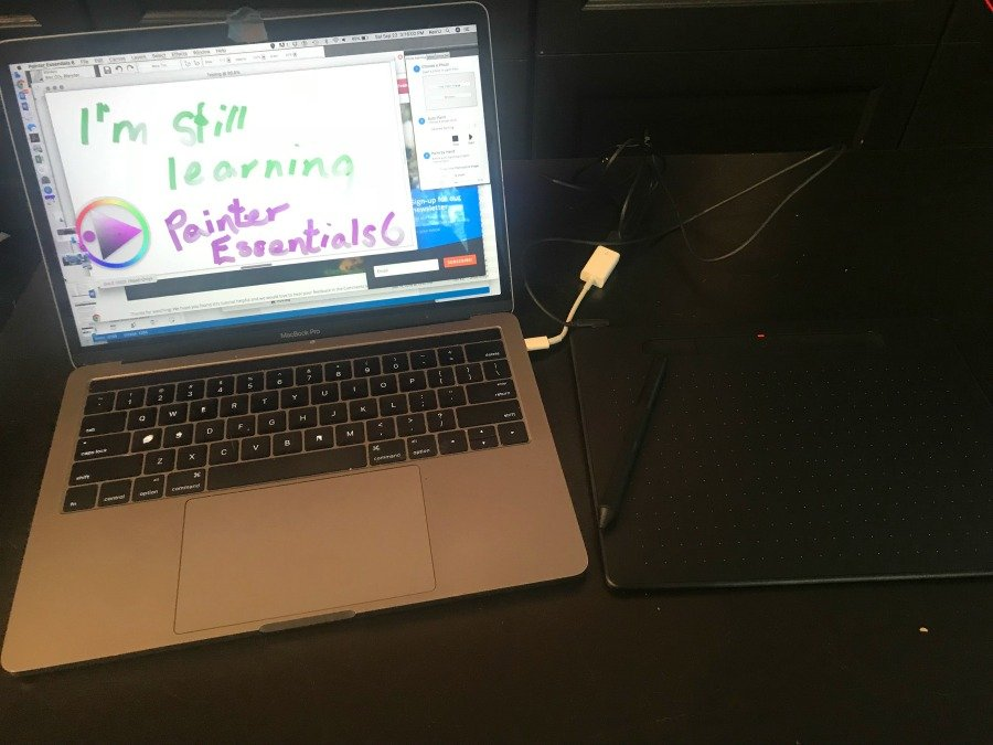 laptop with painter essentials