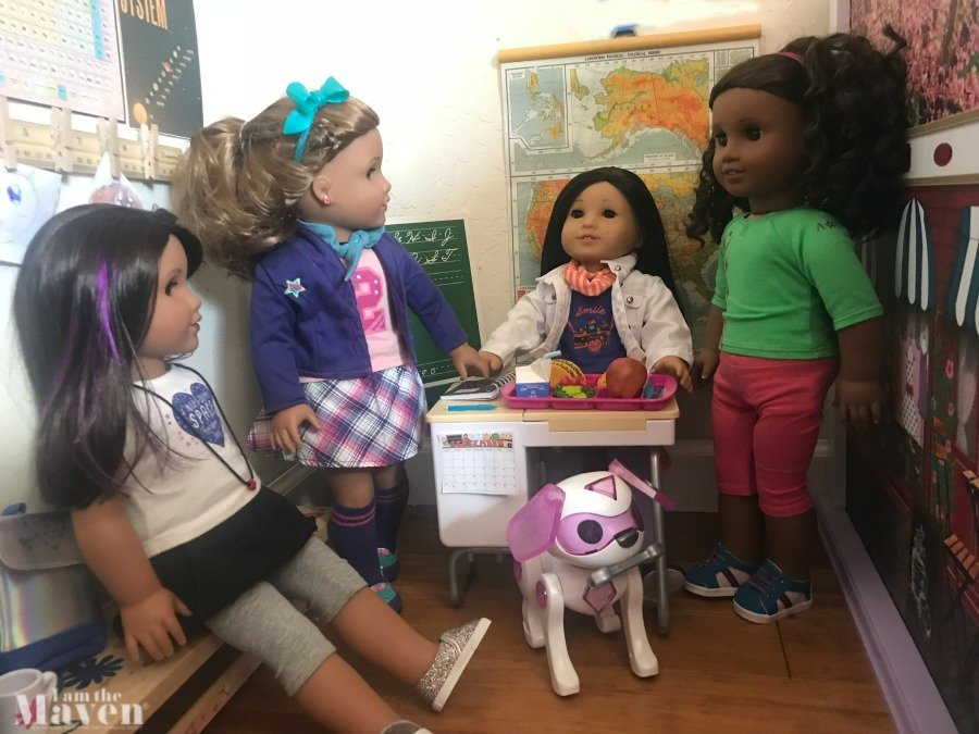 american girl doll friends at school