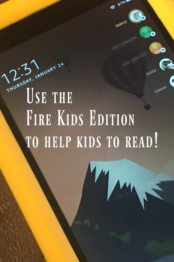 fire kids edition tablet on lock screen