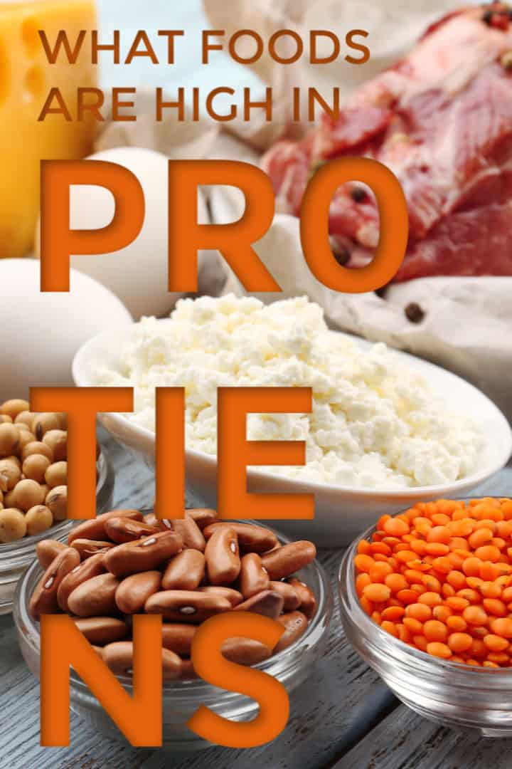 foods high in proteins on table