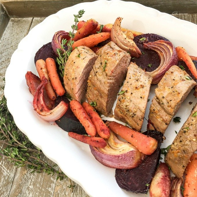 orange glazed pork loin