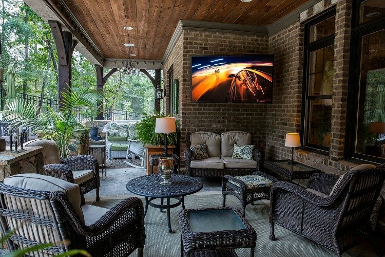 television on patio
