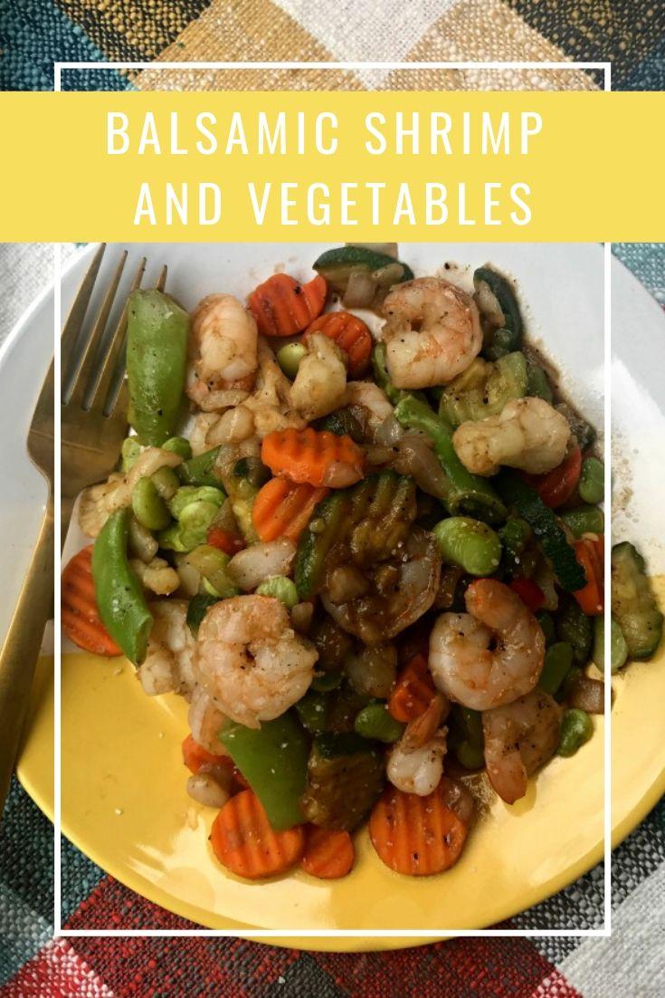 balsamic shrimp and vegetables