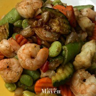 balsamic shrimp and veggies
