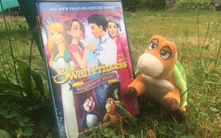 swan princess dvd and stuffed toy