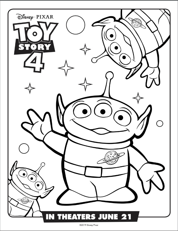 alien coloring sheet