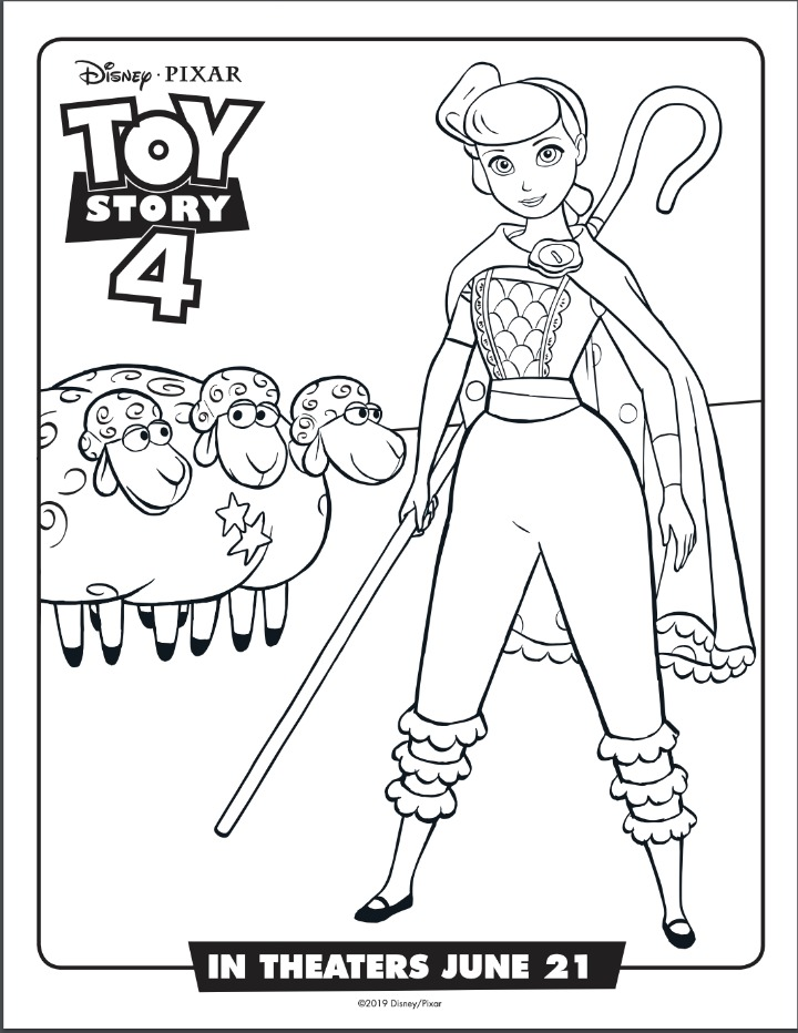 bo peep coloring sheet