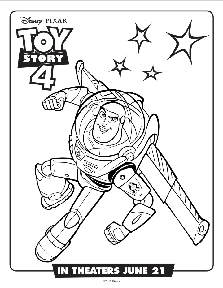 buzz lightyear coloring sheet