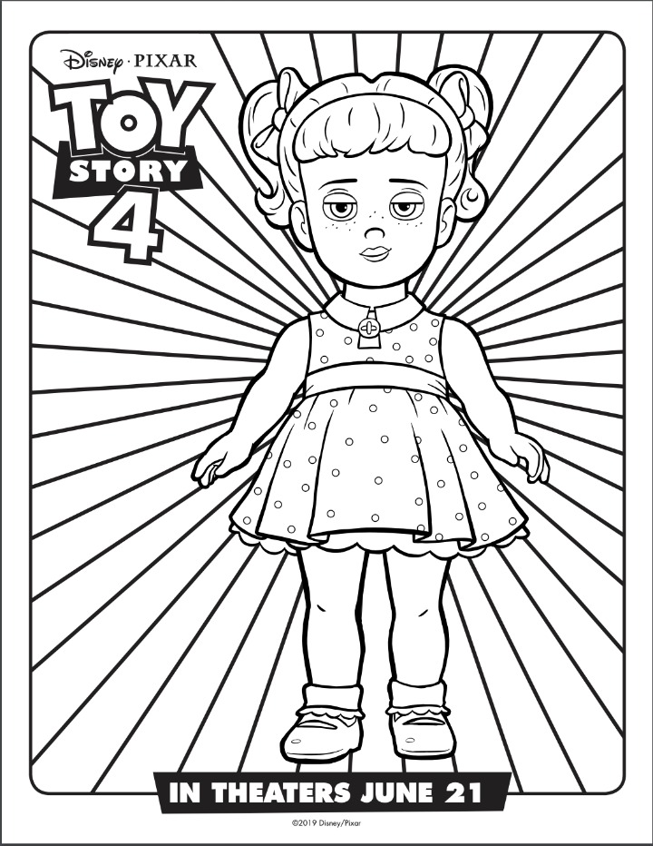Gabby Gabby coloring sheet