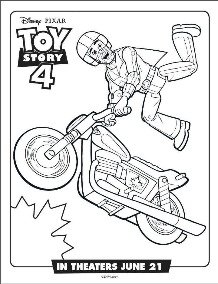 duke Caboom coloring sheet