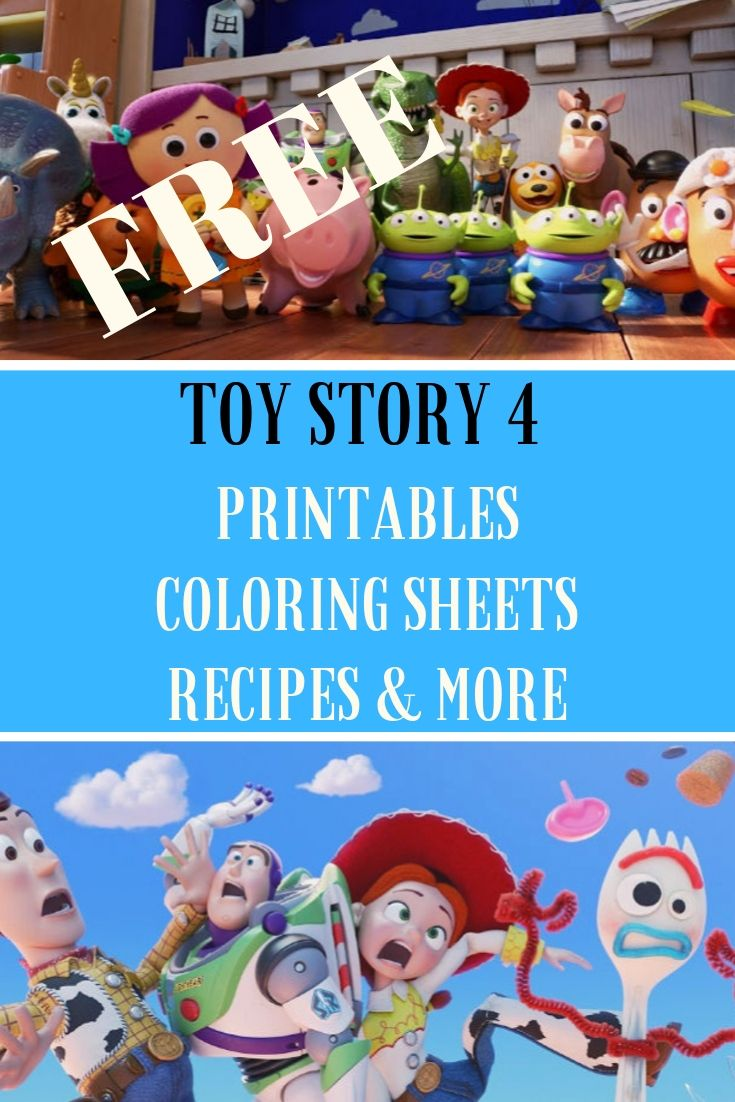 Free Toy Story 4 Coloring Sheets Recipes And More