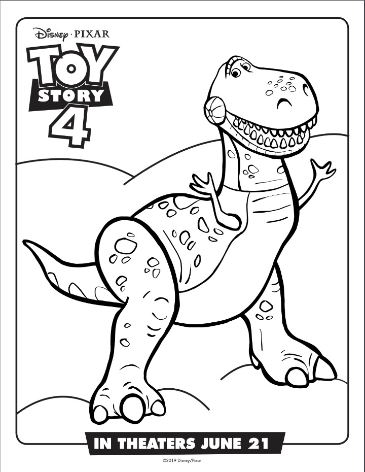 Rex coloring sheet