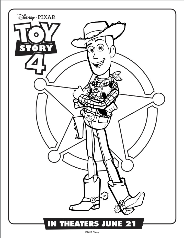 woody coloring sheet