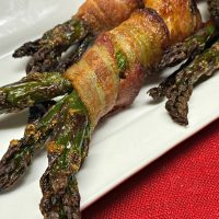 Airfryer Recipe: Aspargus wrapped in bacon