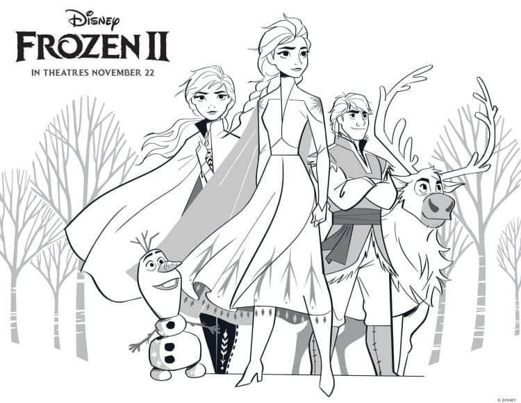 Frozen 2 Coloring Sheets