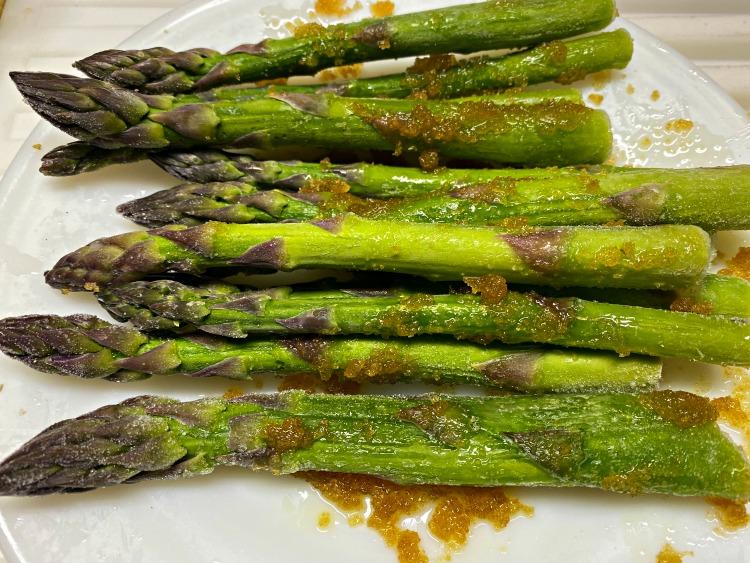 coated asparagus