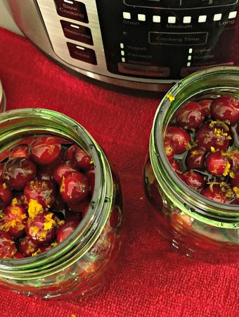 sous vide honey bourbon cranberry sauce