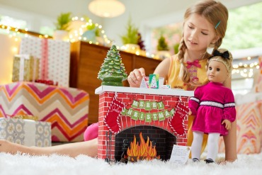 Julie's Fireplace - American Girl