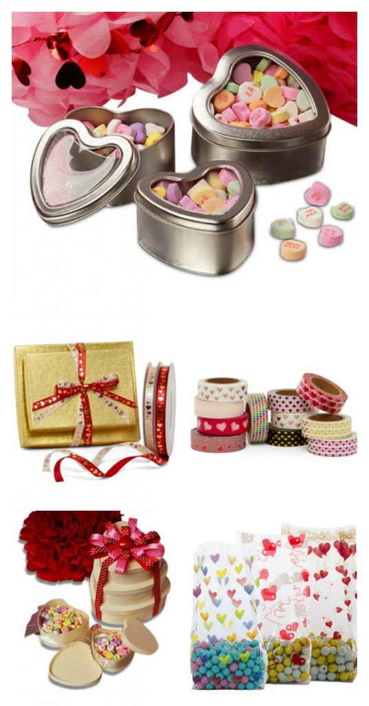assorted valentines wrapping