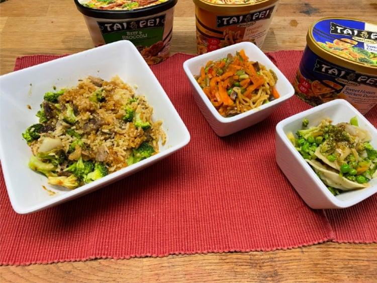 tai pei chinese food in bowls