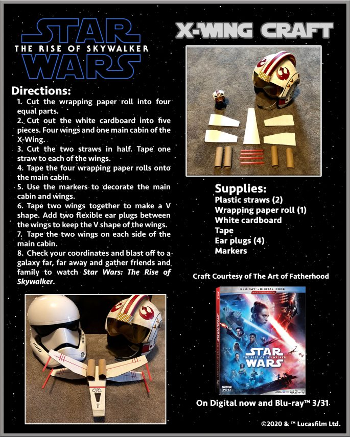 X-Wing Craft instructions