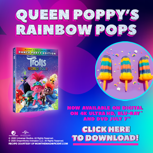 graphic with instructions for rainbow pops