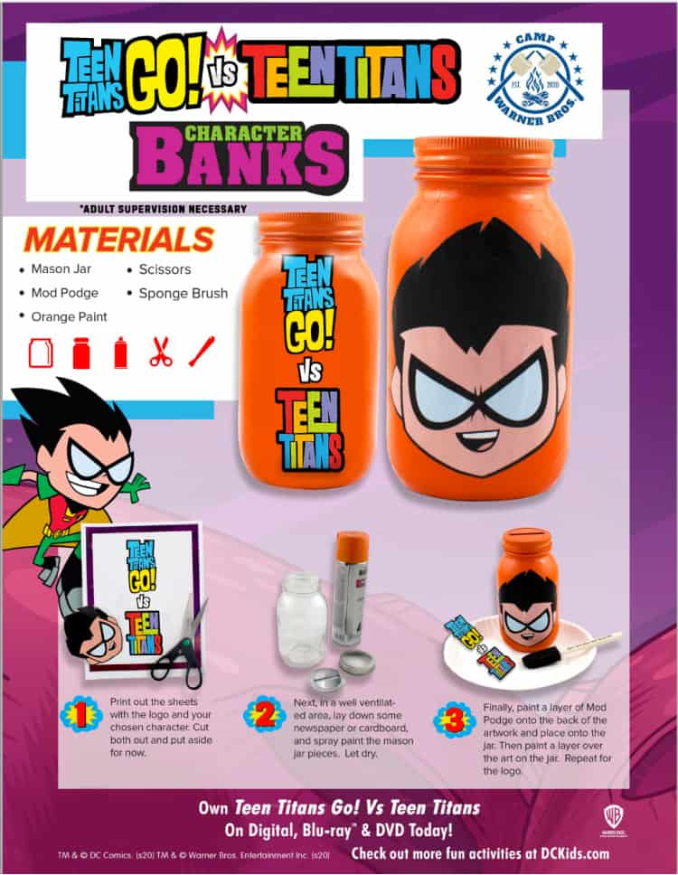 teen titans go bank instructions